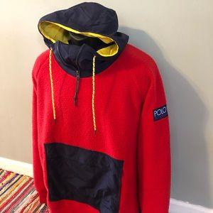 Polo Hi-Tech Ralph Lauren Fleece Jacket Hoodie XL